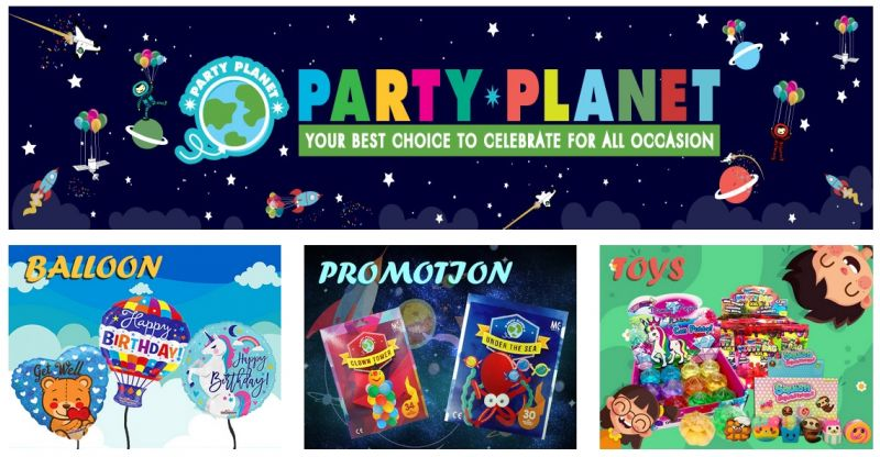 Party Planet - Wholesaler for party supplies in Malaysia | BangTrade.com